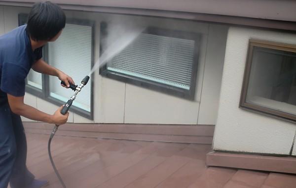 【外壁】高圧洗浄01