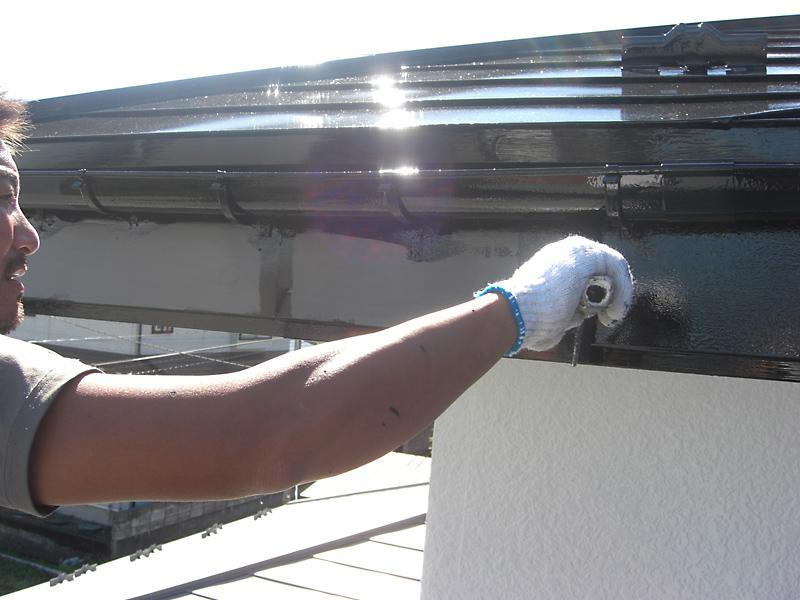 【破風板】1回目塗装