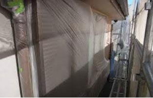 外壁塗装 養生・下地調整浄