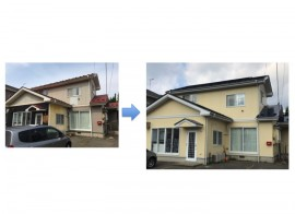 秋田市 新屋町I様邸の塗装工事 完工しました