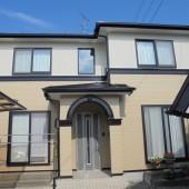 秋田市広面 K様邸(外壁塗装色:2階ND146、1階ND376、屋根塗装色:ブラック)