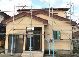 秋田市泉J様邸 外壁塗装・屋根塗装スタートしました