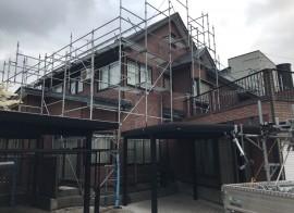 秋田市茨島K様邸 屋根塗装スタートしました