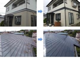 由利本荘市 S様邸 外壁塗装・屋根塗装・外装補修工事 完工しました
