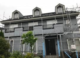 秋田市手形山M様邸の外壁塗装・屋根塗装がスタートしました