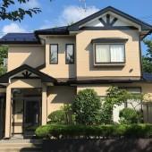 秋田市新屋I様邸 外壁塗装色:ND376、目地:ND012、屋根塗装色:ブラック