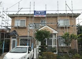 秋田市広面S様邸の屋根塗装スタートしました