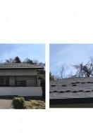 秋田市寺内H様邸の屋根塗装がスタートしました