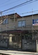 秋田市保戸野K様邸の外壁塗装がスタートしました