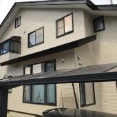 秋田市外旭川 H様邸(全面)塗装色:外壁N D184、屋根コーヒーブラウン