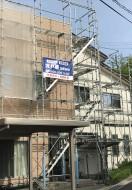 秋田市千秋S様邸の外壁塗装・屋根塗装がスタートしました