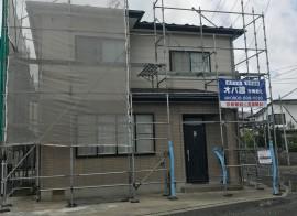秋田市将軍野O様邸の外壁塗装・屋根塗装がスタートしました
