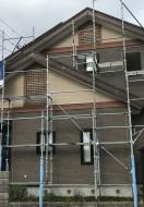 秋田市手形O様邸の外壁塗装がスタートしました
