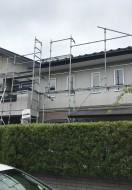 秋田市東通M様邸の屋根塗装がスタートしました