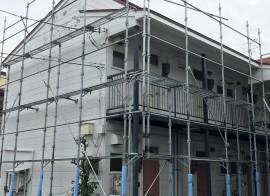 秋田市川元 S様所有アパートの外壁塗装・屋根塗装スタートしました