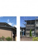 秋田市八橋M様邸、秋田市茨島S様邸の外壁塗装・屋根塗装がスタートしました