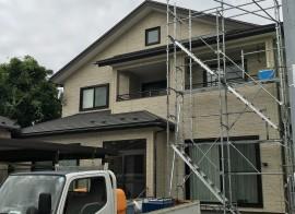 秋田市横森S様邸の外壁塗装・屋根塗装がスタートしました