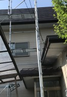 秋田市手形山S様邸の屋根塗装がスタートしました