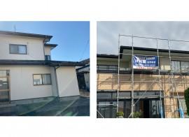 秋田市飯島T様邸の屋根塗装、秋田市桜ガ丘G様邸の外壁塗装・屋根塗装がスタートしました。