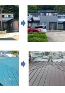 秋田市上北手A様邸の外壁塗装・屋根塗装、秋田市茨島S様邸の屋根塗装が完工しました