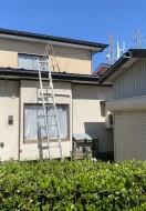 秋田市茨島S様邸の屋根塗装がはじまりました