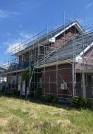 秋田市外旭川S様邸の外壁塗装・屋根塗装が着工しました