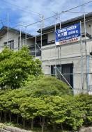 秋田市土崎港H様邸の外壁塗装・屋根塗装が着工しました