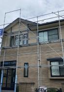 秋田市保戸野K様邸の外壁塗装・屋根塗装が着工しました