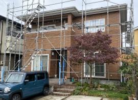 秋田市御所野K様邸 屋根塗装・雨樋補修工事が着工しました