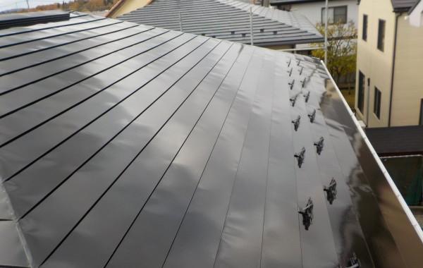 秋田市御所野k様邸 屋根・破風・軒天塗装、雨樋部分補修