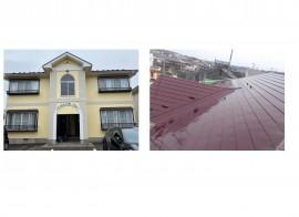 由利本荘市S様所有 カーサデルソルの外壁塗装・屋根塗装が完工しました