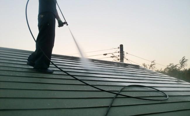 【屋根】高圧洗浄01