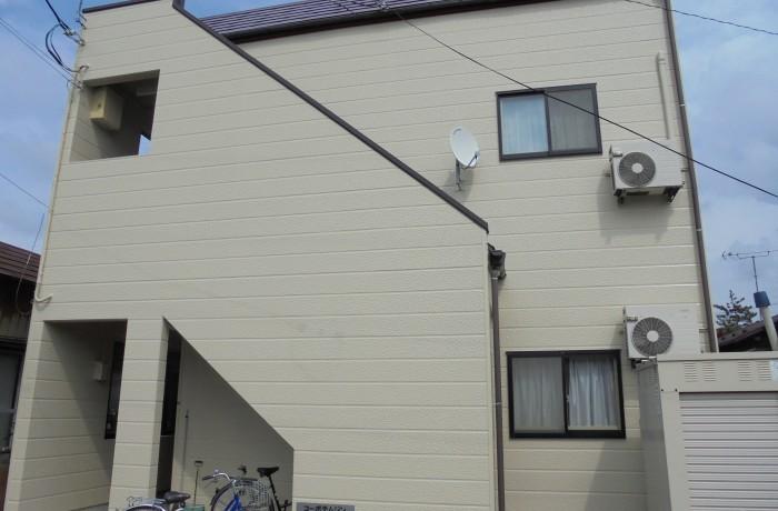 秋田市手形 K様所有アパート(外壁塗装色:ND372)