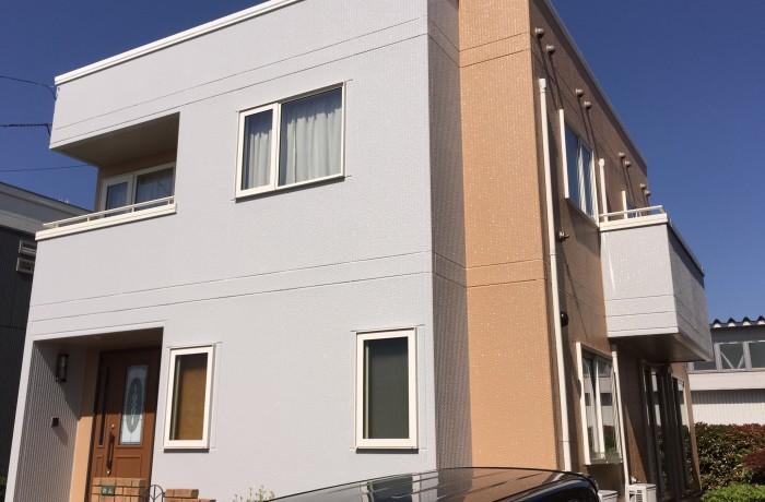 秋田市 外旭川 Y様邸(外壁塗装色:ND011、ND343 )