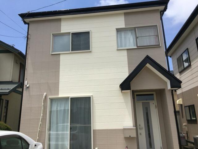 秋田市将軍野 K様邸(外壁塗装色:ND152、ND104、屋根塗装色:ブラック)