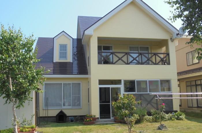 秋田市 新屋町 F様邸(外壁塗装色:ND250、屋根塗装色:コーヒーブラウン)