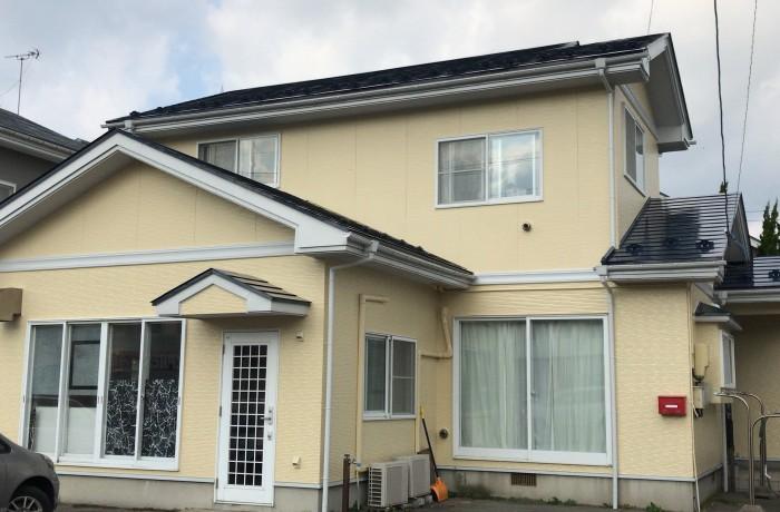 秋田市新屋町 I様邸(外壁塗装色:ND500、屋根塗装色:エンペラーブルー)
