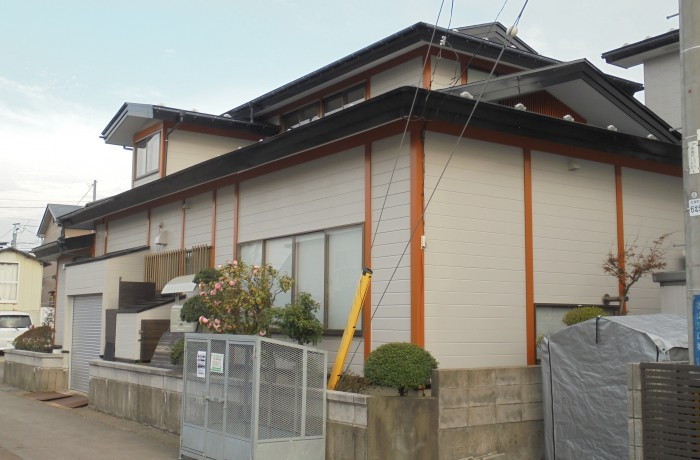 秋田市楢山K様邸 外壁塗装色:ND373