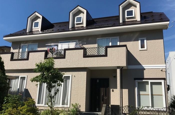秋田市手形山 M様邸  外壁塗装色:ND152、屋根塗装色:コーヒーブラウン