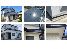 秋田市広面K様邸の外壁塗装・屋根塗装、にかほ市O様邸の外壁塗装が完工しました