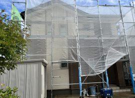 秋田市泉A様邸 外壁塗装・屋根塗装 着工しました